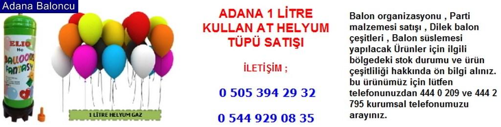 Adana 1 litre kullan at helyum tüpü satışı iletişim ; 0 544 929 08 35