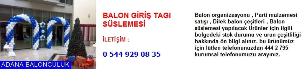 Adana Balon giriş tagı süslemesi iletişim ; 444 0 209 ve 444 2 795