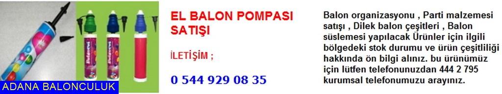 Adana El balon şişirme pompası satışı iletişim ; 444 0 209 ve 444 2 795