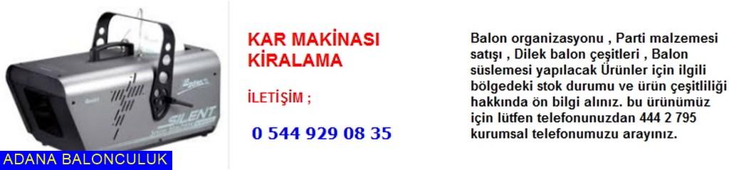 Adana Kar makinası kiralama iletişim ; 444 0 209 ve 444 2 795