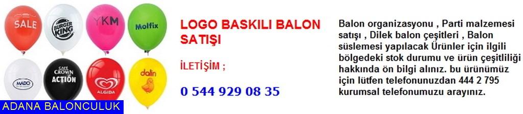Adana Logo baskılı balon satışı iletişim ; 444 0 209 ve 444 2 795