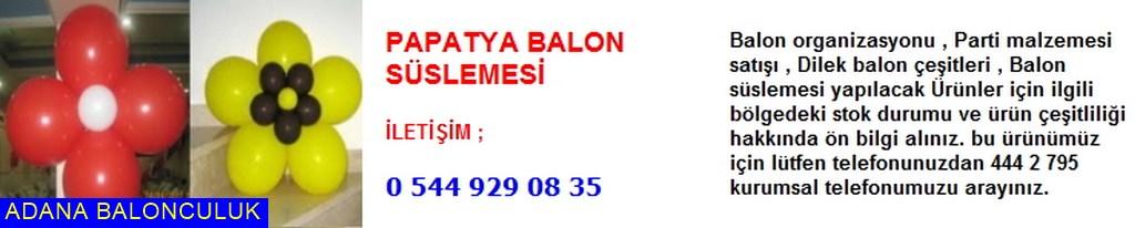 Adana Papatya balon süslemesi iletişim ; 444 0 209 ve 444 2 795