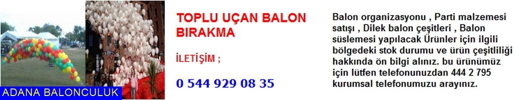 Adana Toplu uçan balon bırakma iletişim ; 444 0 209 ve 444 2 795