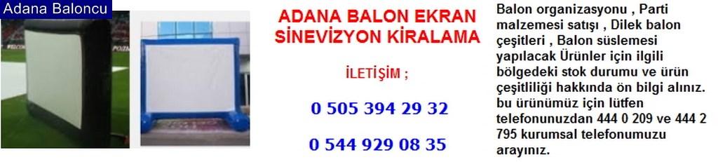Adana balon ekran sinevizyon kiralama iletişim ; 0 544 929 08 35