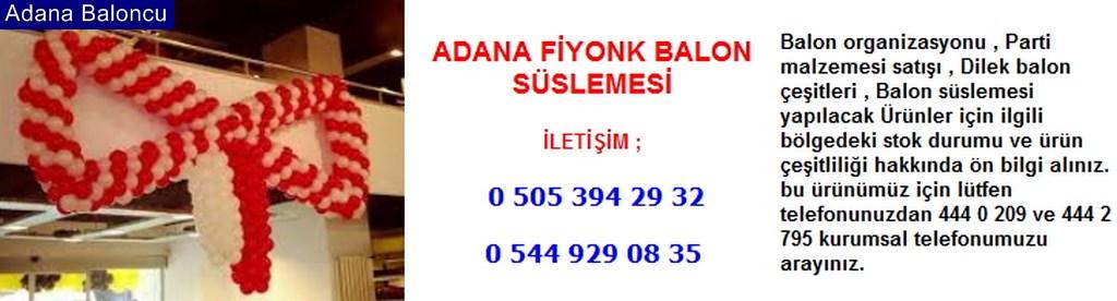 Adana fiyonk balon süslemesi iletişim ; 0 544 929 08 35