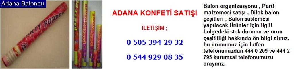 Adana konfeti satışı iletişim ; 0 544 929 08 35