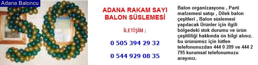 Adana rakam sayı balon süslemesi iletişim ; 0 544 929 08 35