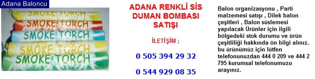 Adana renkli sis duman bombası satışı iletişim ; 0 544 929 08 35