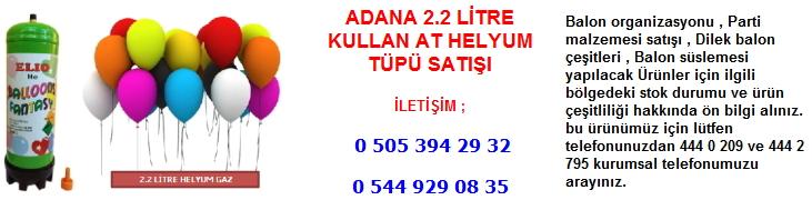 Adana 2.2 litre kullan at helyum tüpü satışı