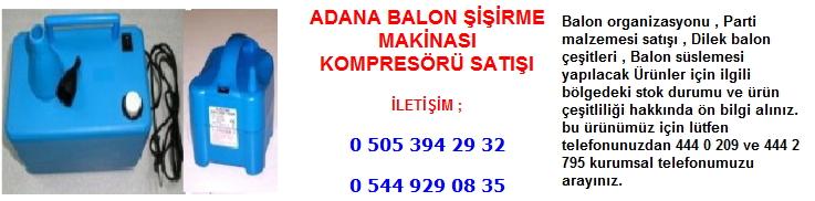 Adana balon şişirme kompresörü satışı