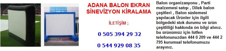 Adana balon ekran sinevizyon kiralama
