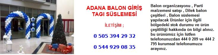 Adana balon giriş tagı süslemesi