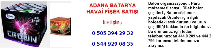 Adana batarya havai fişek satışı