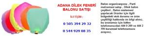 Adana dilek feneri balonu satışı