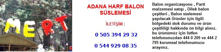 Adana harf balon süslemesi