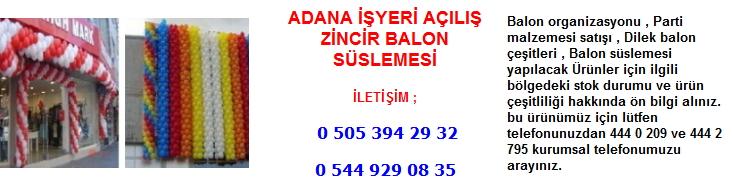 Adana işyeri açılış zincir balon süslemesi