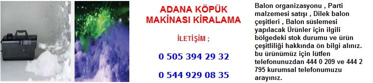 Adana köpük makinası kiralama