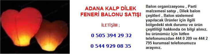 Adana kalp dilek feneri balonu satışı
