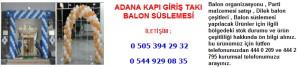Adana kapı giriş takı balon süslemesi