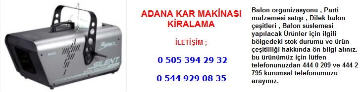 Adana kar makinası kiralama