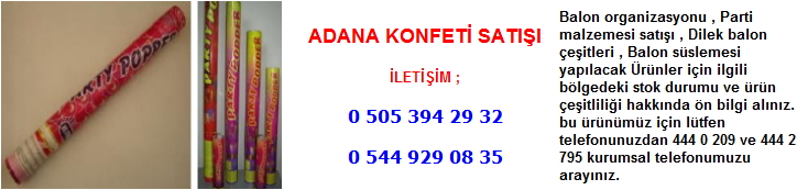 Adana konfeti satışı