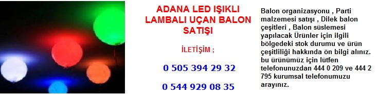 Adana led ışıklı lambalı uçan balon satışı