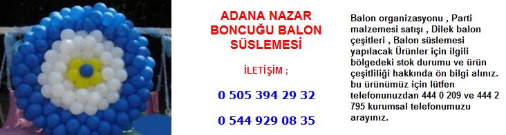 Adana nazar boncuğu balon süslemesi