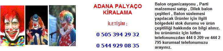 Adana palyaço kiralama