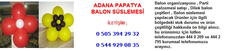 Adana papatya balon süslemesi
