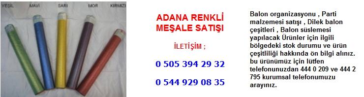 Adana renkli meşale satışı