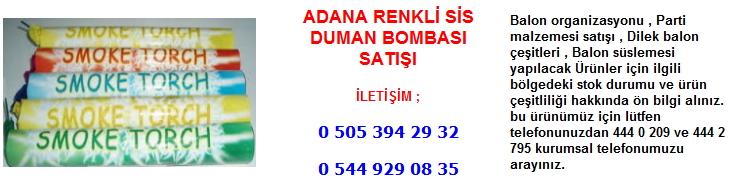 Adana renkli sis duman bombası satışı