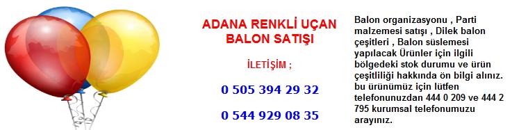 Adana renkli uçan balon satışı