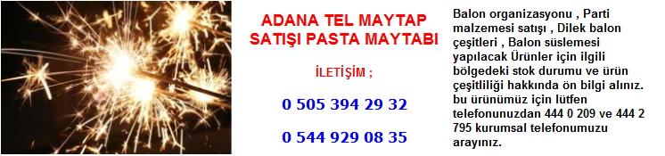 Adana tel maytap satışı pasta maytabı